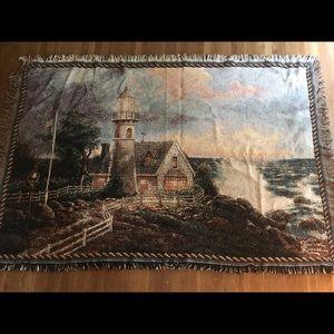 Thomas Kinkade lighthouse blanket